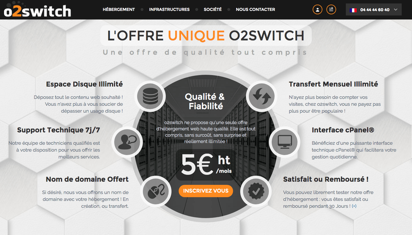 prix o2switch