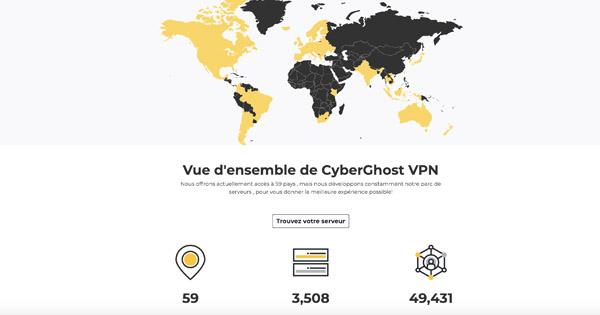 Serveurs CyberGhost