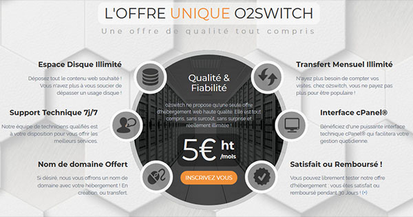 Tarification o2switch