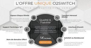 espace disque chez o2switch
